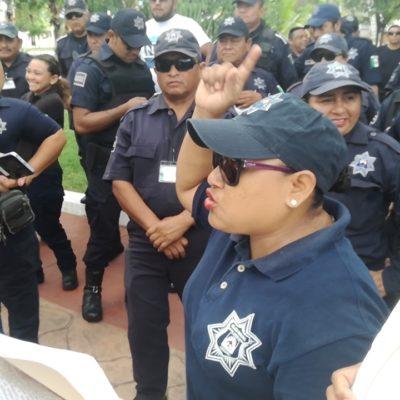 NUEVO PARO DE POLICÍAS, AHORA EN COZUMEL: Agentes exigen pago de Fortaseg y destitución de director