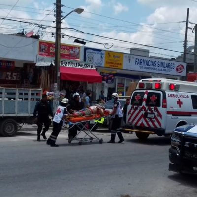 Reportan herido de bala en un negocio de la colonia Tierra Maya de Cancún, en un presunto intento de robo