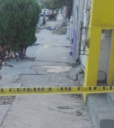 Fallece sujeto en vía pública al ser herido con arma blanca, en Cancún