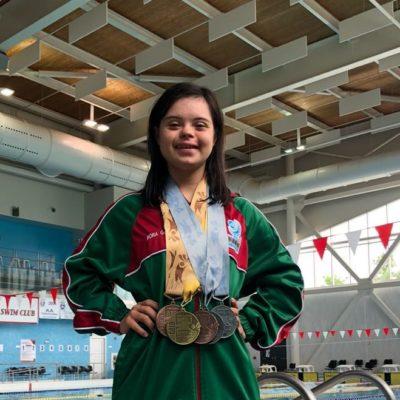 Cierre espectacular de Daniela Michelle en el Campeonato Mundial de Natación de Síndrome de Down