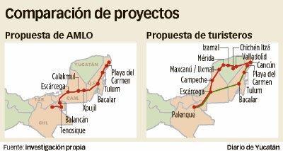 Proponen ruta alterna al proyecto del Tren Maya para incluir a Yucatán