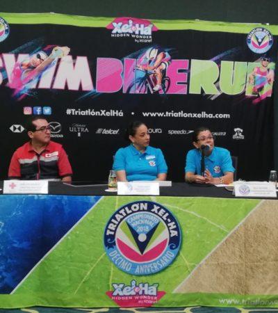 Celebra triatlón Xel-ha décimo aniversario; aseguran que el turismo deportivo en el Caribe Mexicano crece