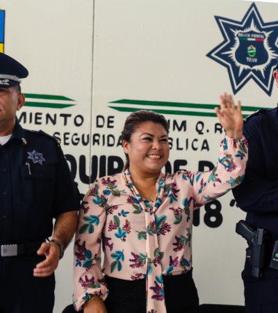 ATERRIZAN 15 MDP PARA SEGURIDAD EN TULUM: Entregan equipo a policías con recursos del Fortaseg