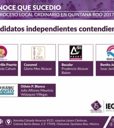 Candidatos independientes buscan avanzar en proceso electoral del 2019