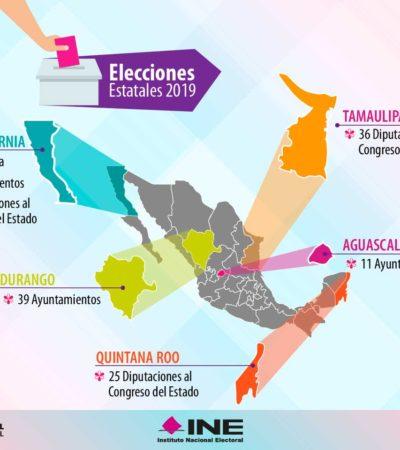 Habrá en 2019 una gubernatura en disputa, además de ayuntamientos y diputaciones locales, incluyendo las de Quintana Roo