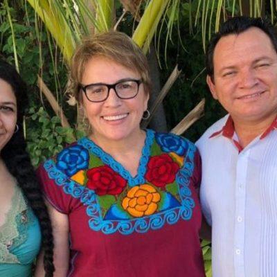 Laura Beristaín se reúne con Joaquín Díaz Mena y Katia Meave, próximos coordinadores federales en la Península de Yucatán