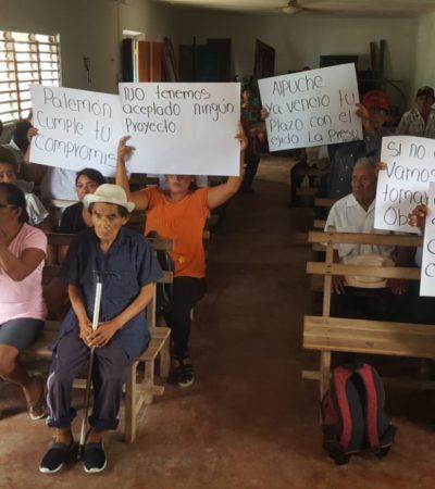 Ejidatarios en José María Morelos exigen pago a universidad