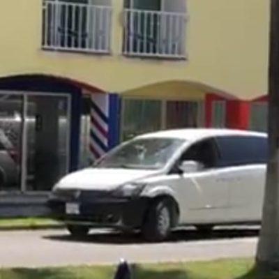 Captan 'levantón' en en pleno centro de Cozumel