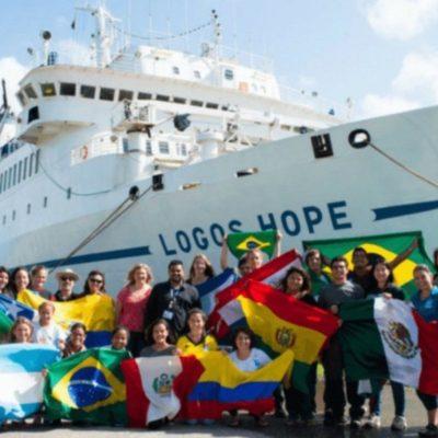 Abre 'Logos Hope' sus puertas a visitantes en Progreso; ofrece libros y cultura de todo el mundo