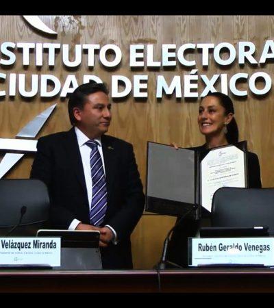 CLAUDIA SHEINBAUM RECIBE CONSTANCIA DE MAYORÍA: Primera mujer electa como Jefa de Gobierno de la Ciudad de México