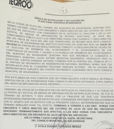 Movimiento Ciudadano también pide que se anulen elecciones en Solidaridad