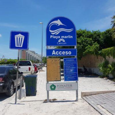 Playa Marlin con distintivo 'Blue Flag', no presta el servicio de baños y regaderas porque Aguakan cortó el suministro