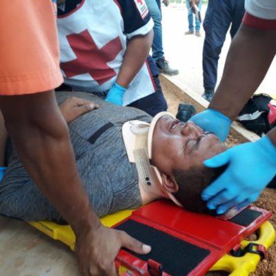 Cae obrero desde 8 metros de altura y salva la vida