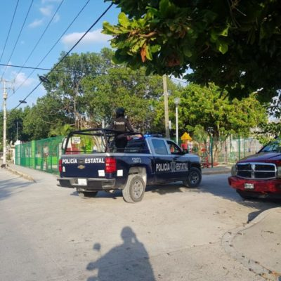 Falso reporte de persona herida de bala hizo que la policía municipal y estatal se movilizaran en Cancún