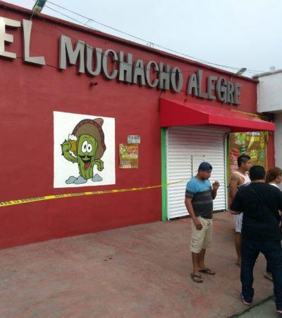 OTRA VEZ EN 'EL MUCHACHO ALEGRE': Atacan a balazos al administrador de bar en la colonia Ejidal de Playa del Carmen