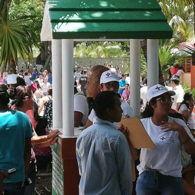 Sin logo y sin gafetes aplican encuesta de salida para Más Data en Puerto Morelos, adelantándose al PREP