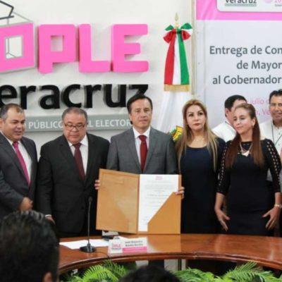 Los gobernadores electos en Chiapas, Veracruz, Puebla, Tabasco, Yucatán y Guanajuato reciben sus acreditaciones y constancias de mayoría
