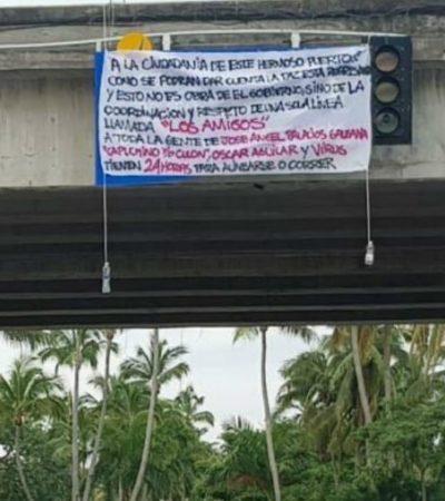 Anuncian con 'narcomantas' que gobierno fue desplazado por el cártel 'Los Amigos' en Acapulco