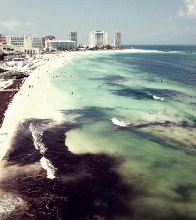 Mejora imagen de las playas en Cancún, luego de afectaciones severas de sargazo