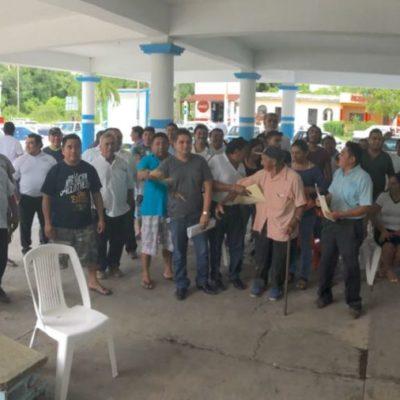 Taxistas de Nuevo Xcan exigen cuentas a su dirigente, ante persistentes rumores de que hay malos manejos financieros