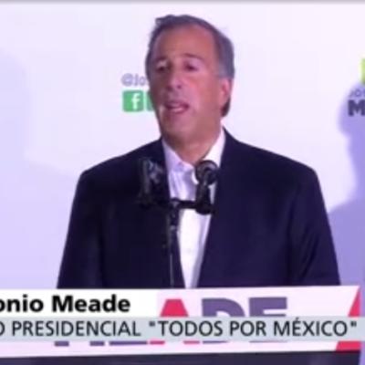 DA MEADE COMO GANADOR A OBRADOR: Reconoce el candidato del PRI que la tendencia del voto no lo favorece y se apresura a darle el triunfo a AMLO