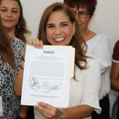 """MARA LEZAMA YA ES PRESIDENTA ELECTA: """"No voy a cambiar, tengan la seguridad"""", dice la ganadora de Morena en Cancún"""