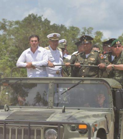 Celebra Ayuntamiento de BJ entrega de terreno donde se construirán instalaciones de la brigada de Policía Militar y la Unidad Habitacional Militar para tres mil elementos que combatirán la delincuencia y a grupos criminales en Cancún