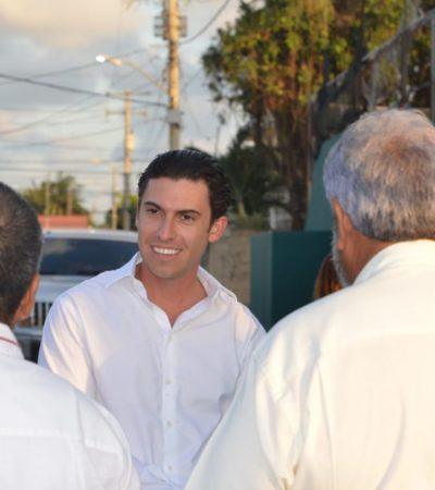 Supervisa Remberto Estrada proyecto de sustitución de luminarias en la SM 100 de Cancún