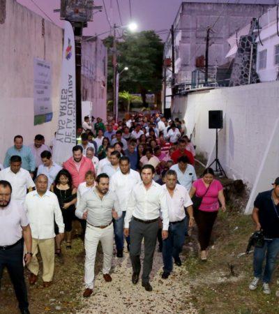 Entrega Alcalde rehabilitación de los andadores de la zona fundacional de Cancún