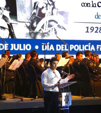 Reconoce Alcalde lealtad y servicio de la Policía Federal en Cancún