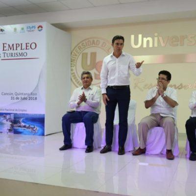Inauguran feria de empleo para el Sector Turismo en Cancún; el Presidente Municipal destacó la atención de 20 mil cancunenses con el servicio municipal de empleo