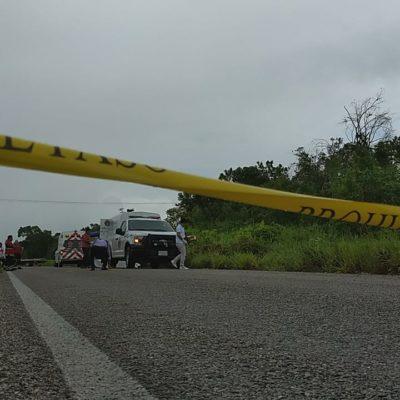 ACCIDENTE EN LA ZONA MAYA: Fallece automovilista por un 'pestañazo' cerca de Señor