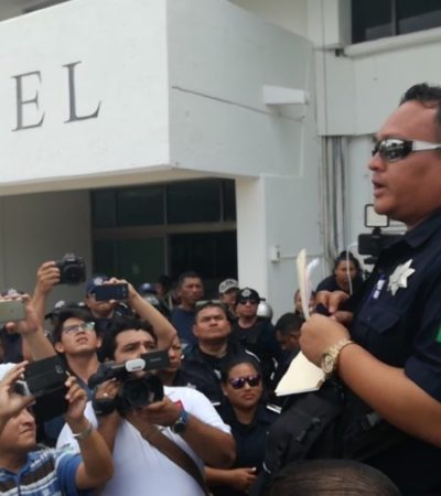 Policías municipales de Cozumel levantan paro laboral al llegar a un acuerdo sobre el pago de Fortaseg