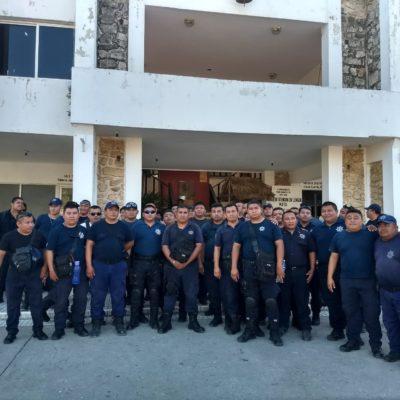 Le quitan patrullas a policías en paro en Felipe Carrillo Puerto