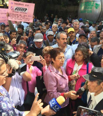 HERENCIA OCULTA: Luego de 23 años, ex trabajadores de la extinta Ruta 100 exigen a AMLO salarios caídos
