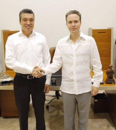 Propone Manuel Velasco tersa transición de gobierno al triunfador Rutilio Escandón