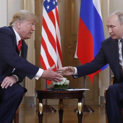 Declara Trump disposición a buscar 'formas de cooperar' con Rusia tras terso encuentro con Putin