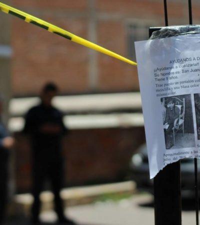 Conmociona abuso sexual y asesinato de niña en Zacatecas; su rostro fue desfigurado