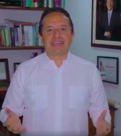 """""""INICIAN AHORA TIEMPOS DE UNIDAD Y DE TRABAJAR JUNTOS: Mensaje del gobernador de Quintana Roo Carlos Joaquín al concluir la jornada electoral del 1 de julio de 2018"""