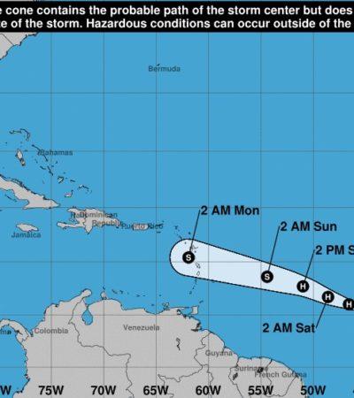NACE EL PRIMER HURACÁN DE LA TEMPORADA EN EL ATLÁNTICO: 'Beryl' avanza hacia el mar Caribe, pero aún no representa peligro para las costas de México