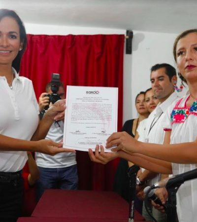 Recibe Laura Fernández constancia de mayoría como Alcaldesa reelecta en Puerto Morelos