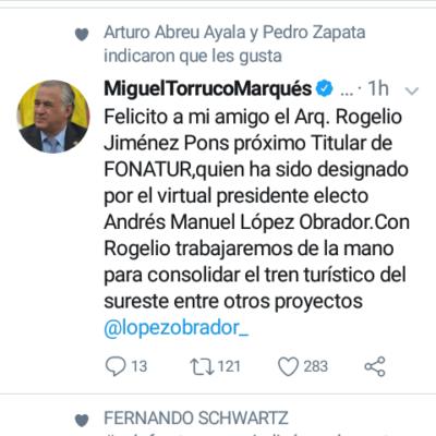 Ofrece Miguel Torruco trabajo coordinado con Fonatur para consolidar el Tren Maya