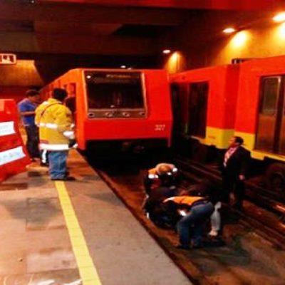 Sexagenaria suicida se avienta al paso del metro en la estación Normal de la CDMX