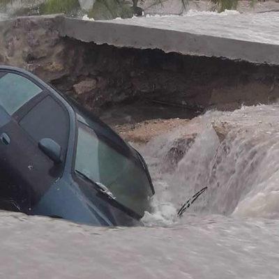 Inunda tromba a Ciudad Juárez; alertan a ciudadanos sobre fin de semana de lluvia intensa