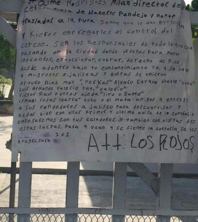 Retraso en la apertura de una casilla en Cancún por la aparición de una narcomanta