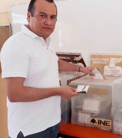 REAPARECE FABIÁN VALLADO: El cuestionado ex secretario particular de Borge acudió a votar en Puerto Morelos