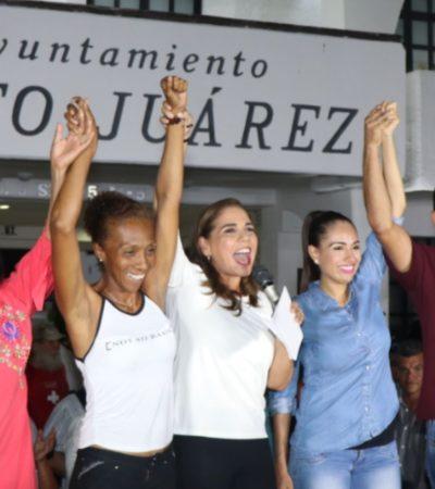 SE COMPROMETE 'MARA' A NO FALLAR: La candidata de Morena en Cancún celebra su triunfo por al menos 20 puntos