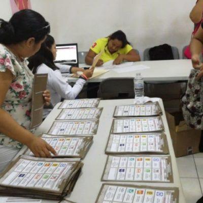 Comienzan recuentos parciales de votos en los cuatro distritos del INE en Quintana Roo
