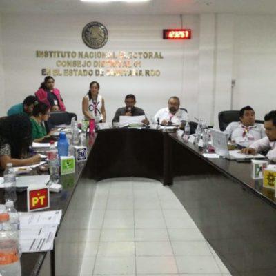Inician recuento y cotejo de votos en el Distrito electoral federal 01 del INE