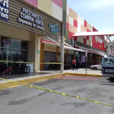 Asaltan casa de empeño en la Plaza Héroes de la SM 215 de Cancún